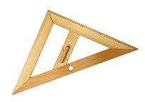 Rovnoramenný trojúhelník dřevěný 45*