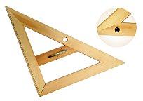 Rovnoramenný trojúhelník dřevěný 45* s protiskluzem