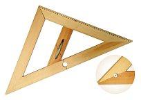 Rovnoramenný trojúhelník dřevěný 45* s magnetem