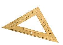 Rovnoramenný trojúhelník dřevěný 45* s úhloměrem