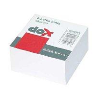 Blok špalíček 85x85x40 nelepený bílý DOX