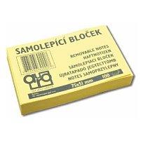 Blok lepící Contacta 50x75 žlutý