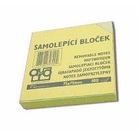 Blok lepící 75x75 žlutý