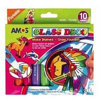 Barvy na sklo AMOS 10 x 10,5 ml