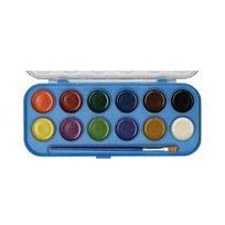 Barvy vodové 12 odstínů (pr. 30 mm)