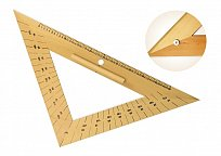 Rovnoramenný trojúhelník dřevěný 45* s úhloměrem s magnetem