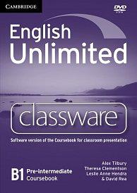 Classware DVD-ROM English Unlimited Pre-Intermediate