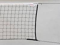 Síť volejbal STANDARD - černá s lankem