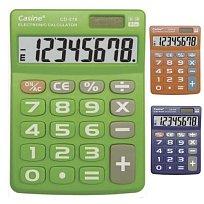 Kalkulačka CASINE CD-276 stolní 8 míst modrá, zelená, oranžová