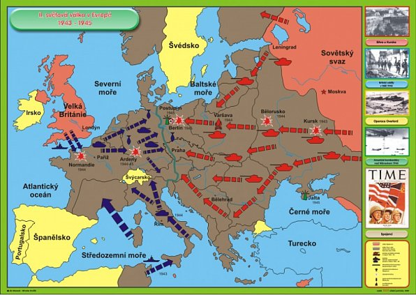 Druha Svetova Valka V Evrope 1943 1945 120 X 90 Cm Ucebnice