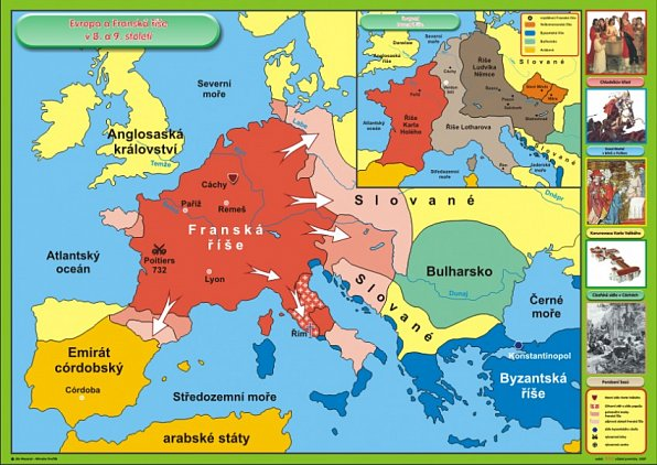 Francka Rise A Evropa V 8 9 Stoleti 120 X 90 Cm Ucebnice Vanicek